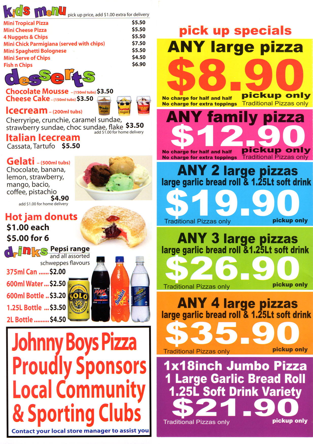 Johnny's pizza coupons 2019